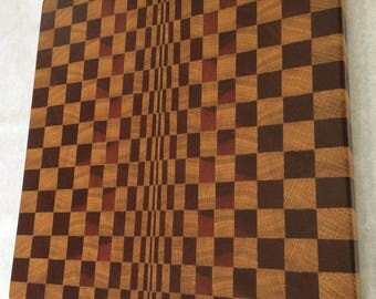 Amazing 3d end grain cutting board