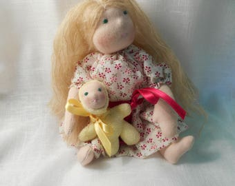 Lucia, Waldorf doll and her doll