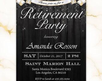 Elegant Retirement Party Invitations | Surprise Retirement Invites | Printable retirement invitation | Digital or Printed #ELRET6574