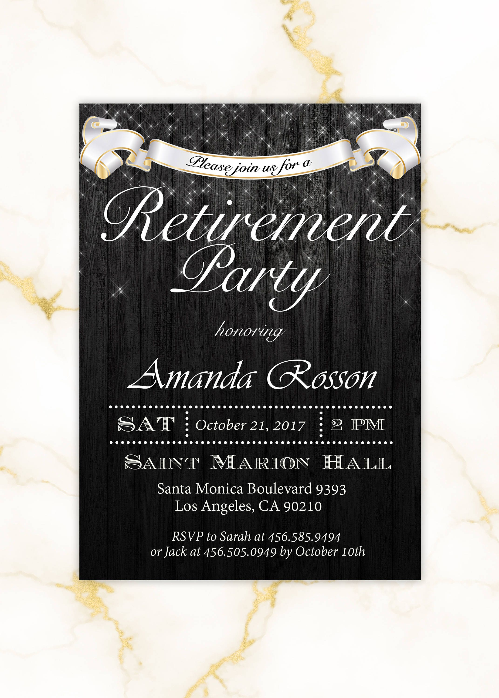 Elegant Retirement Party Invitations | Surprise Retirement Invites ...