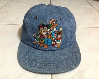 Rare!! The Disney Store Baseball Cap Hat Made in Usa