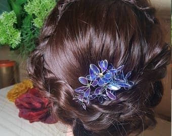 Stained glass hair flowers