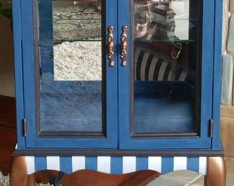 Custom Painted Curio Cabinet