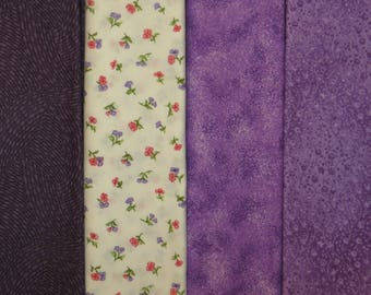 4 Half Yard Cuts  2 YARDS TOTAL  Makower and Kaufman Lavendar