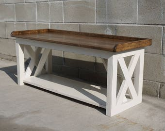 Superieur Farm Style Kitchen Bench   Made To Order