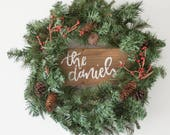 Personalized Holiday Wreath | Custom Christmas Wreath | Custom Sign | Wood Pallet Sign | Christmas Decor | Handlettering | Handmade Sign