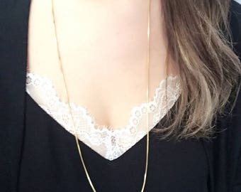 Snake Long Chain 18K Gold Plated