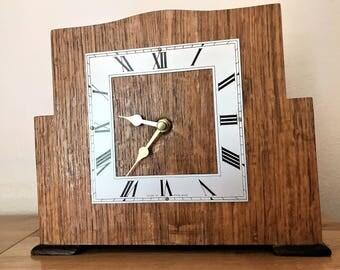 Clock, Mantel, Reconditioned vintage, 1940s,