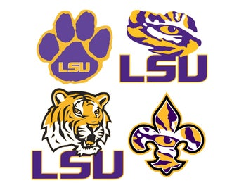 LSU svg, LSU Tigers svg, NFL svg, American football svg, svg files for cricut, svg for silhouette, vector cut files, svg png eps dxf