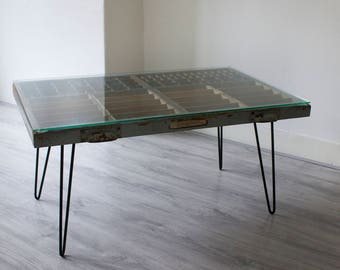 Typecase Table (Big) Vintage Blue