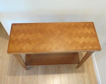 Herringbone Inlay Oak Foyer Table