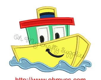 Tubby the Boat Applique Design