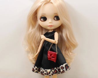 Blythe dress / Blythe black dress / Blyth dress / Blythe cute dress with bag
