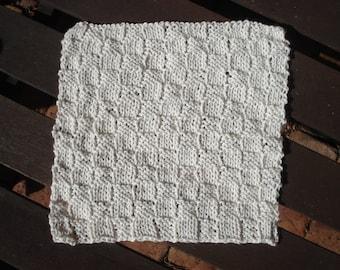 Wash cloth, dish cloth, knitted cloth