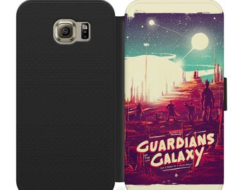 Marvel guardians of the galaxy PU leather flip wallet phone case for iphone 4 5 6 7, Samsung s2 s3 s4 s5 s6 s7 s8 plus more