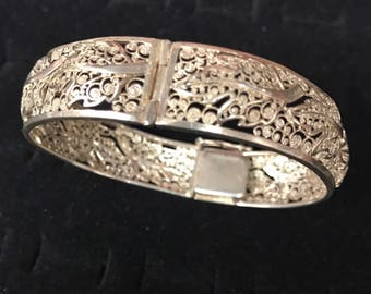 Sterling silver germany floral braclet