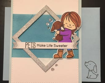 Pets Make Life Sweeter Greeting Card