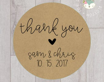 Wedding Stickers, Thank You Stickers, Personalized Wedding Stickers, Favor Stickers, Favor Tags, Thank you Tags, Wedding Favors, S005