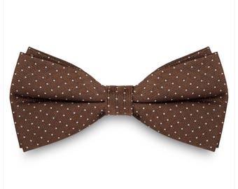 Brown Polka Dots Bow Tie