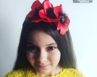 "Headband ""Poppies"""