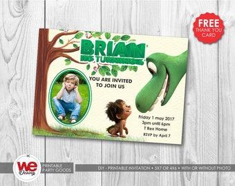 the good dinosaur invitation, the good dinosaur party, the good dinosaur invite,the good dinosaur thank you card, the good dinosaur birthday
