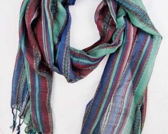 Boho hippie summer festival fair trade nepal scarf