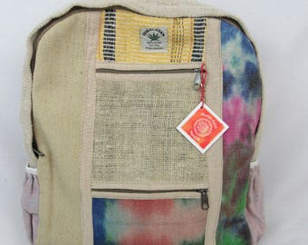 Hemp eco friendly handwoven fair trade backpack