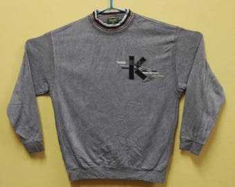 Vintage Sweatshirt KENZO GOLF Embroidered  Made In Japan/Kenzo big logo/Gray colour/good condition