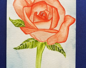 Hand-painted watercolor postcard / greeting card