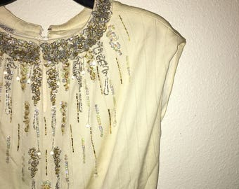 60's beaded blouse