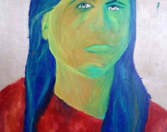Abstract portrait painting.