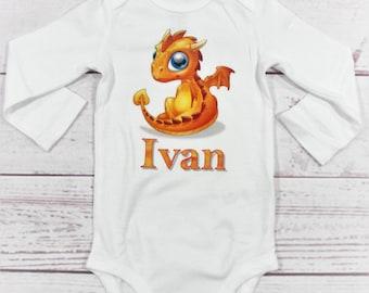 Childrens Dragon Shirt - Kids Dragon Shirt - Dragon Shirt - Personalized Dragon - Dragon - Kids Personalized Name Shirt - Dragon Name Shirt