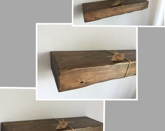 Chunky Rustic floating shelf with fitting kit