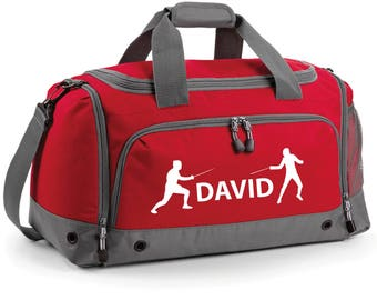 iLeisure Fencing Holdall with your Name/Club Holdall Printed Kit Bag.