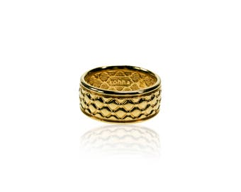 Silver Ring Kohha Chesterfield - gold plated