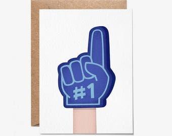 Foam Finger - Greeting Card - Blank Card - Folio - Stationery - thisisfolio
