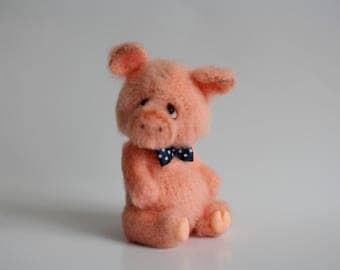 Ready to ship Pig toy Pig doll Mini pig Amigurumi pig Plush pig Crochet pig Stuffed animal pig Stuffed pig Crochet toy pig  Knitted pig
