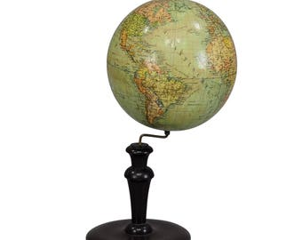 antique Columbus earth globe by Dr. R. Neuse - Berlin ca.1900