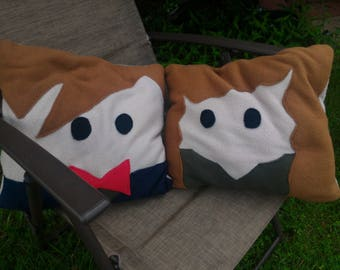 11th Doctor and River Song Pillow Set