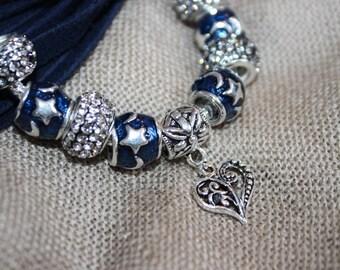 Pandora bracelet.  Bracelet with stars.