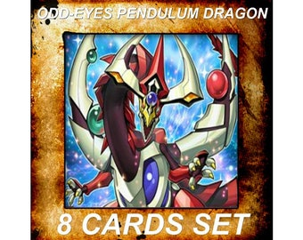 Yugioh Orica Anime Odd Eyes Pendulum Dragon Set of 8 cards