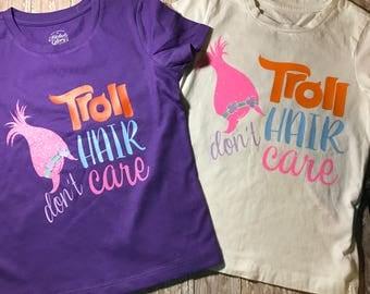 Troll Hair Dont Care Shirt