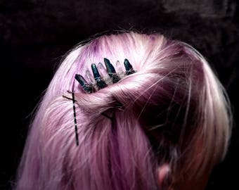 Raw Crystal Hair Comb