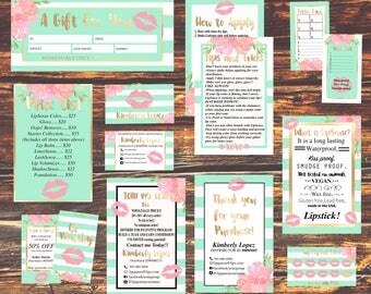 NEW!! Lipsense Business Card - LipSense Bundle Pack - SeneGence International, LipSense Marketing KIT , Distributor Lipsense, Mint LipSense