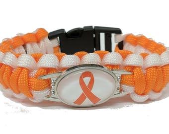 Multiple Sclerosis Awareness Paracord Bracelet