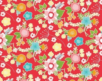 "Riley Blake Designs Wistful Winds"" by Doohikey Designs. 100% cotton, pattern C5440- RED - Main."