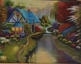 Charming Cottage Cross Stitch Pattern