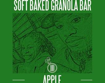 soft baked gluten-free vegan friend granola bar