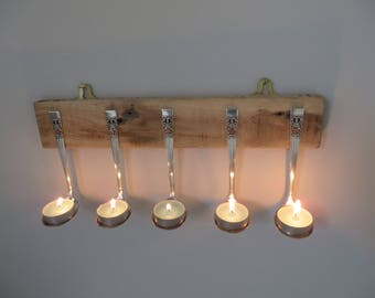 Silver Spoons Tealight/Jewellery Holder