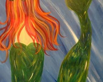 Mermaid Tail Painting